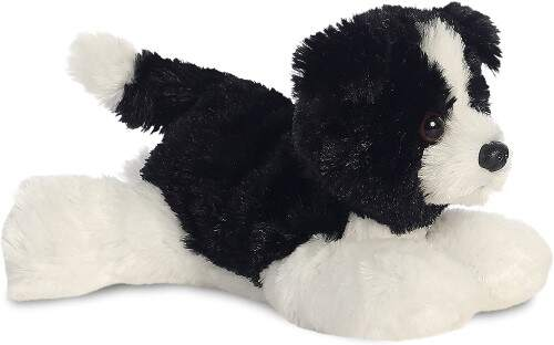 Perro blanco y negro para el bebe de 1 mes