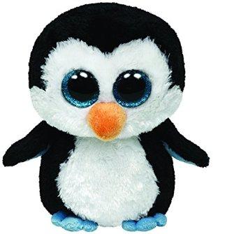 Juegos y juguetes para el bebés desde 1 mes.                      Peluche de pingüino, los fuertes contrastes cómo el blanco y negro le                      llaman la atención.