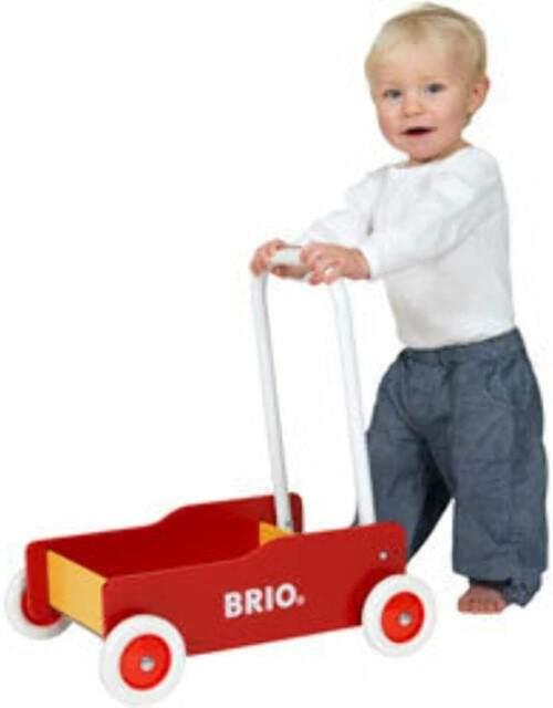 Aprende a caminar con este andador rojo y amarillo.. Juegos para bebés desde 1 año