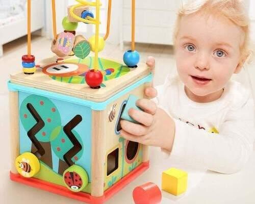 Maravilloso cubo de actividades 5 juegos en 1,                                      juegos y juguetes para bebés desde 11 meses