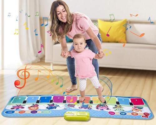 Alfombra de piano con 90 sonidos, y baile musical para                             niños desde 2año.