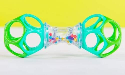 Sonajero de textura suave, flexible y ligera, juegos y juguetes para bebés desde                              4 meses